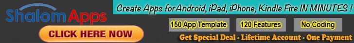 ShalomApps - iPhone, iPad, Android, Amazon Kindle Mobile App 728x90