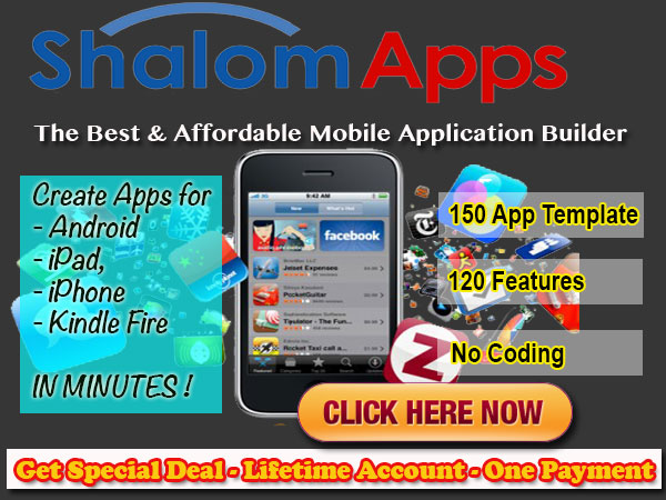 ShalomApps - iPhone, iPad, Android, Amazon Kindle Mobile App 600x450